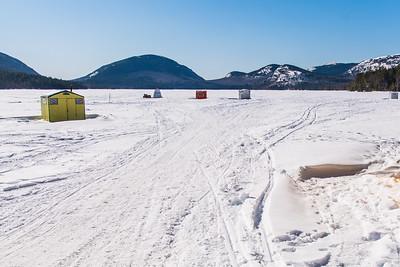 Ice Fishing on Eagle Lake
