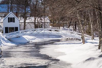 Somesville Bridge in Winter