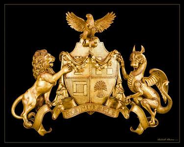 Heraldic Crest carving
