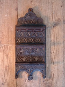 Chip carved spoon rack