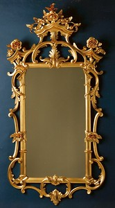 Gilded rococo mirror