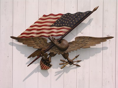Restored six foot George Stapf eagle