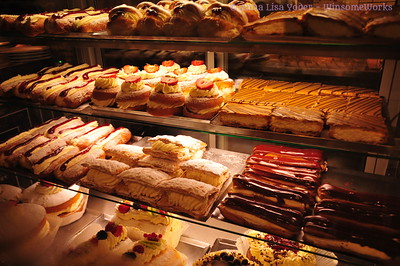Array of bakery treats on our 1st morning in Dublin