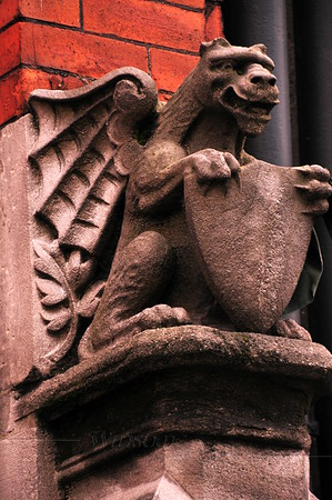 Gargoyle on a Dublin building