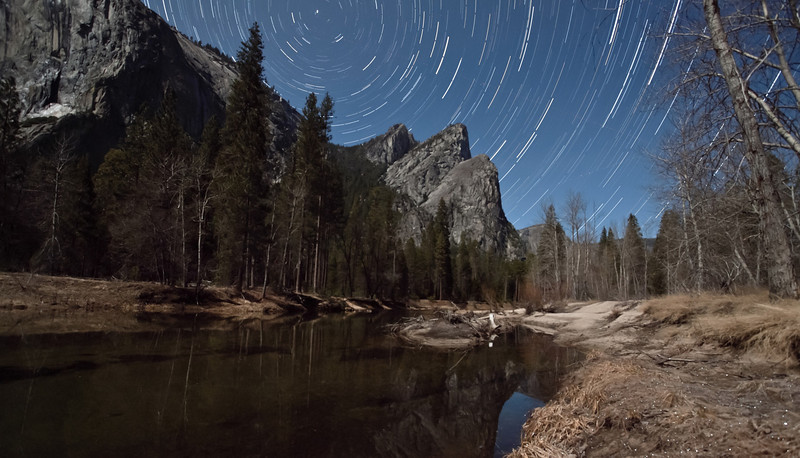 Excited to get back up to Yosemite! Joe Azure, Casey and I are taking off right now. Look for us in the valley this weekend!   This was my first attempt at Star Trails, taken over the Three Brothers on last year's moonwalk, hosted by Amy Heiden.