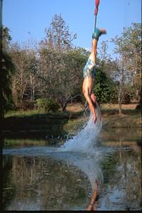 Bungee dunking in Thailand