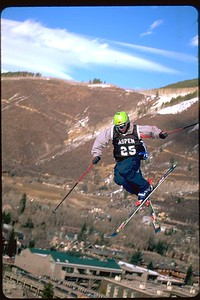 Aspen Big Air comp Skier in Colorado