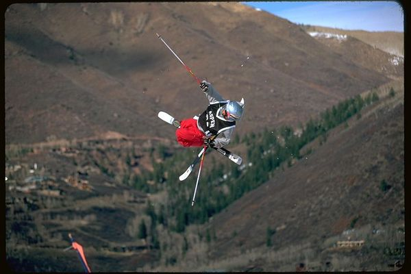 Aspen Big Air comp Skier  2 in Colorado