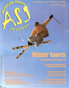 Adventure Sports Journal Skier cover shot by Jared Brick