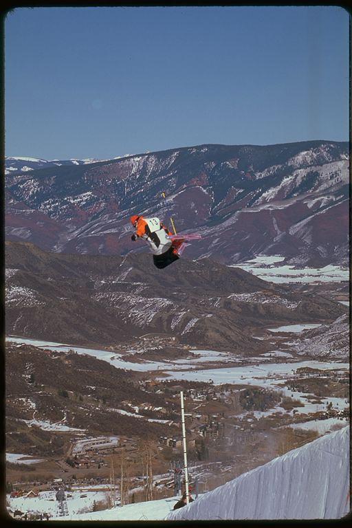 Halfpipe soaring in Snowmass, Colorado