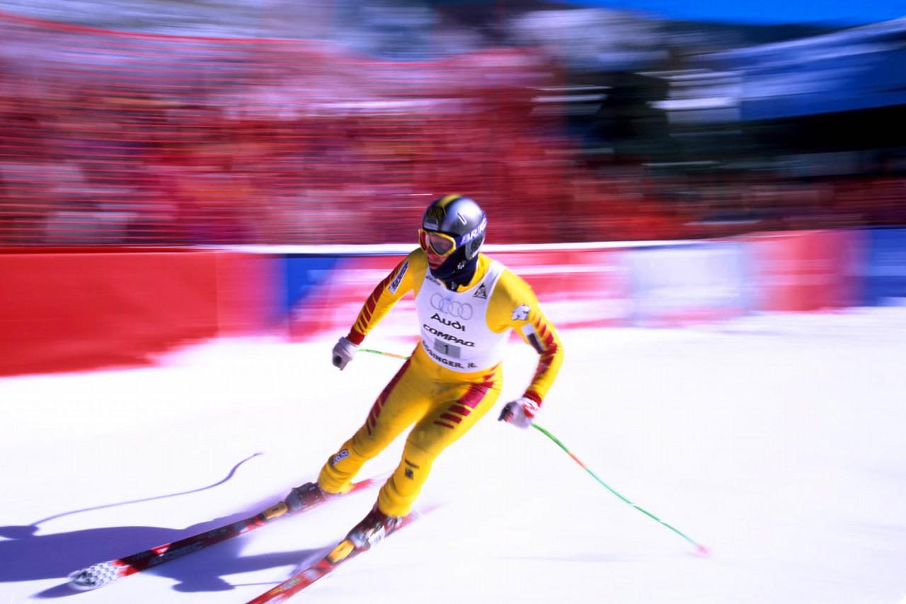 24 Hours of Aspen race skier blur, Colorado