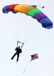 The Fallin' Angels Skydivers have been part of the Ridgewood celebration for 25 years.