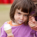 Riley-Maru  eating ice cream.  For permission to use photo, please contact Anne-Marie Long (mother): amlong@telus.net