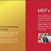 MEF 50th Anniversary Brochure Spread