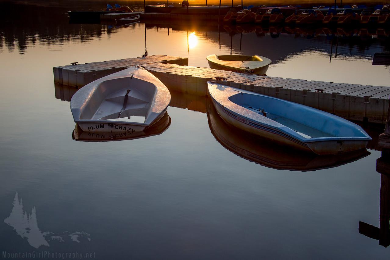 Boats at Evergreen Lake