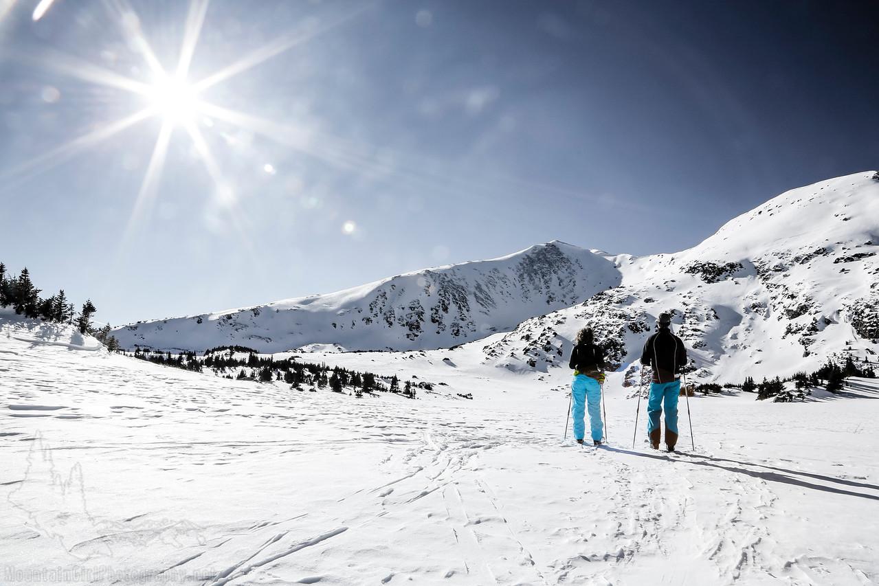 Skiing at Homestake Peak