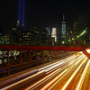Brooklyn Bridge at nighttime, New York City, USA