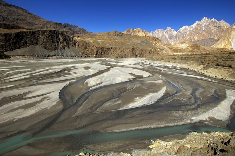 The Hunza River in Gojal, Gilgit-Baltistan, Pakistan