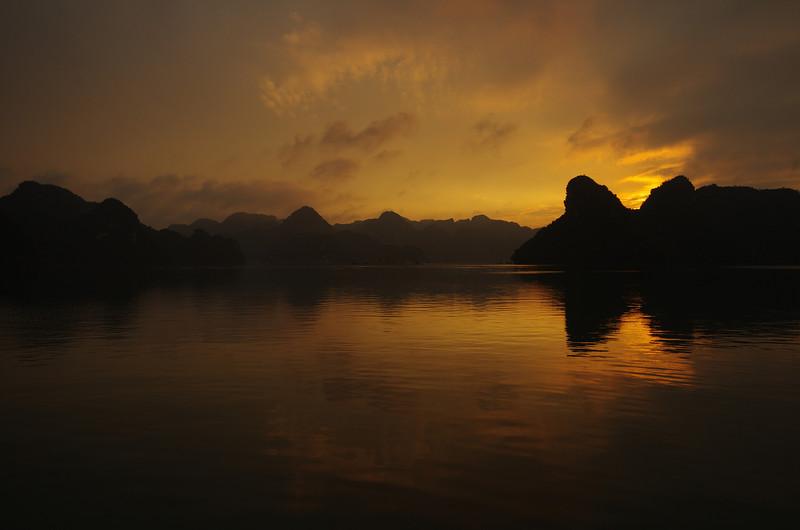 Halong Bay at sunset, Vietnam