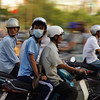 Vietnamese Rush Hour in Saigon/HCMC/Vietnam