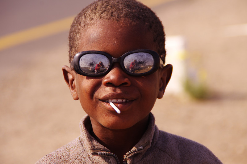 One of the few kids who were celling cigaretts on the streets of Keetmanshoop, Namibia