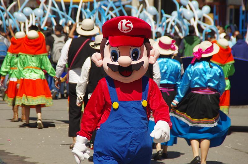 The parade in Huaraz, Peru