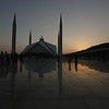 Faisal Mosque at sunset, Islamabad, Pakistan