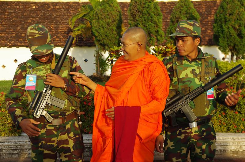 Holy spirit in Vientiane, Bun That Luang, Laos