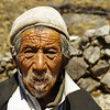 Old men in Kyanjin Gompa, Langtang Himalayas