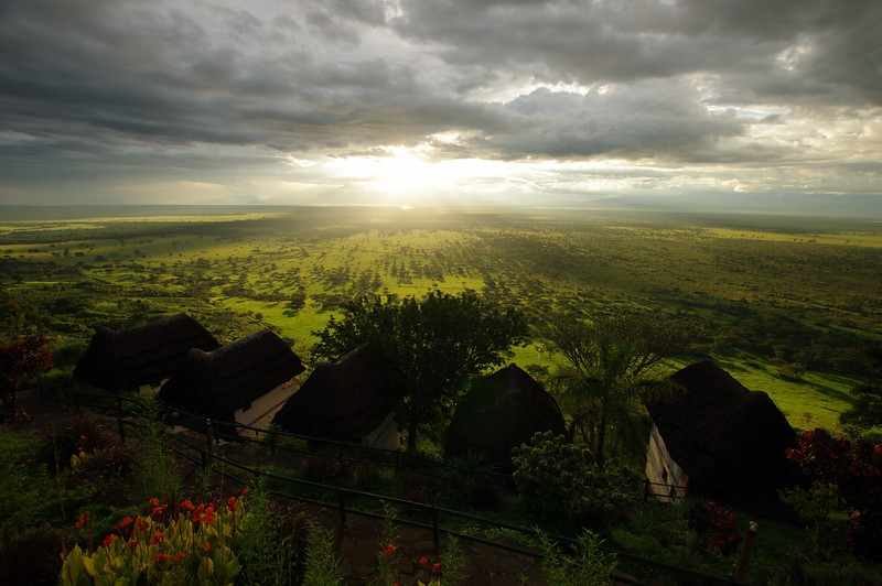 Kingfisher Lodge with Views to Queen Elizabeth Nationalpark, Uganda