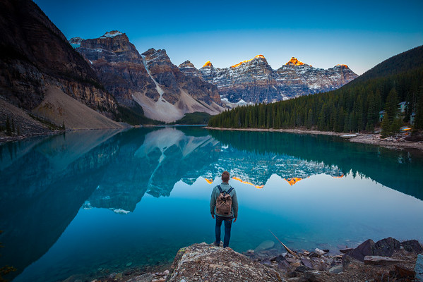 Moraine Lake and Model