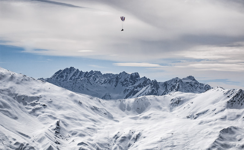 Paragliding over Verbier, Switzerland