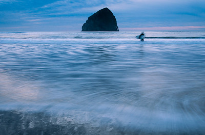 Blue Hour Surfing