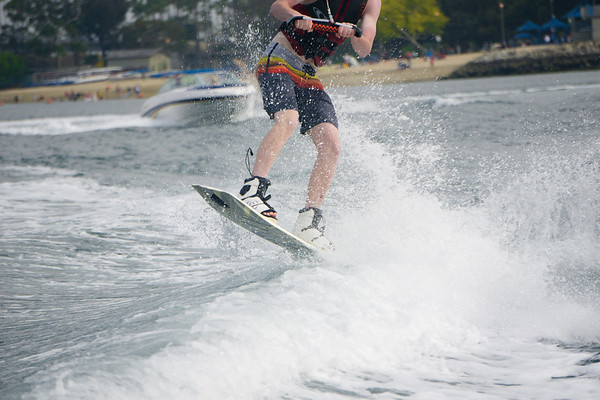 Wakeboarding in Long Beach