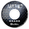 AllMed Brand products CD artwork. This CD contained our Buyer's Guide, individual flyers of AllMed Brand products, informational forms, and other documents for existing and potential customers.