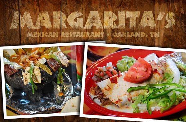 Initial design for insert for Margaritas Mexican Restaurant in Oakland, TN. Photography and design by Jason R. Terrell.