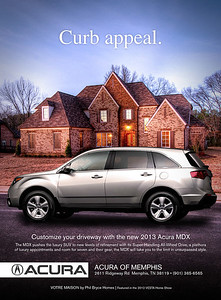 Speculative ad for local Acura dealership to be used in FIX magazine. Background photo and compositing by Jason R. Terrell.