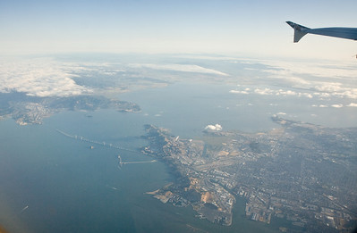 Richmond-San Rafael Bridge and the SF Bay from the air