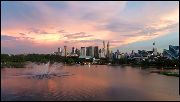 Sunset at Taman Tasik Titiwangsa DJI Phantom 4 30th May 2016 (c) Haris Abdul Rahman harisrahman.com