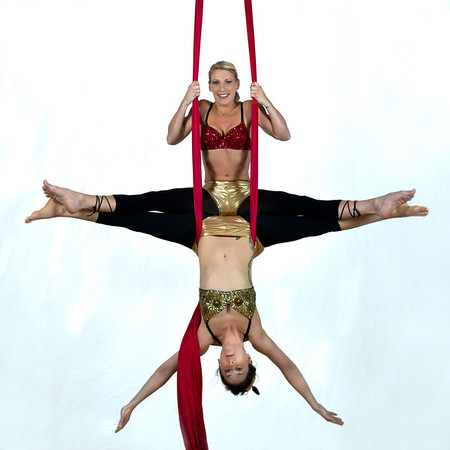 Silks-Liz and Kristin
