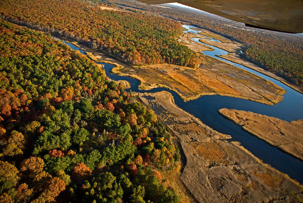The Carmen's River of Brookhaven, Long Island in autumn
