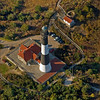 Aerial view of the Fire Island Lighthouse