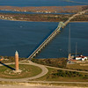 Aerial view of Fire Island and the Robert Moses Bridge