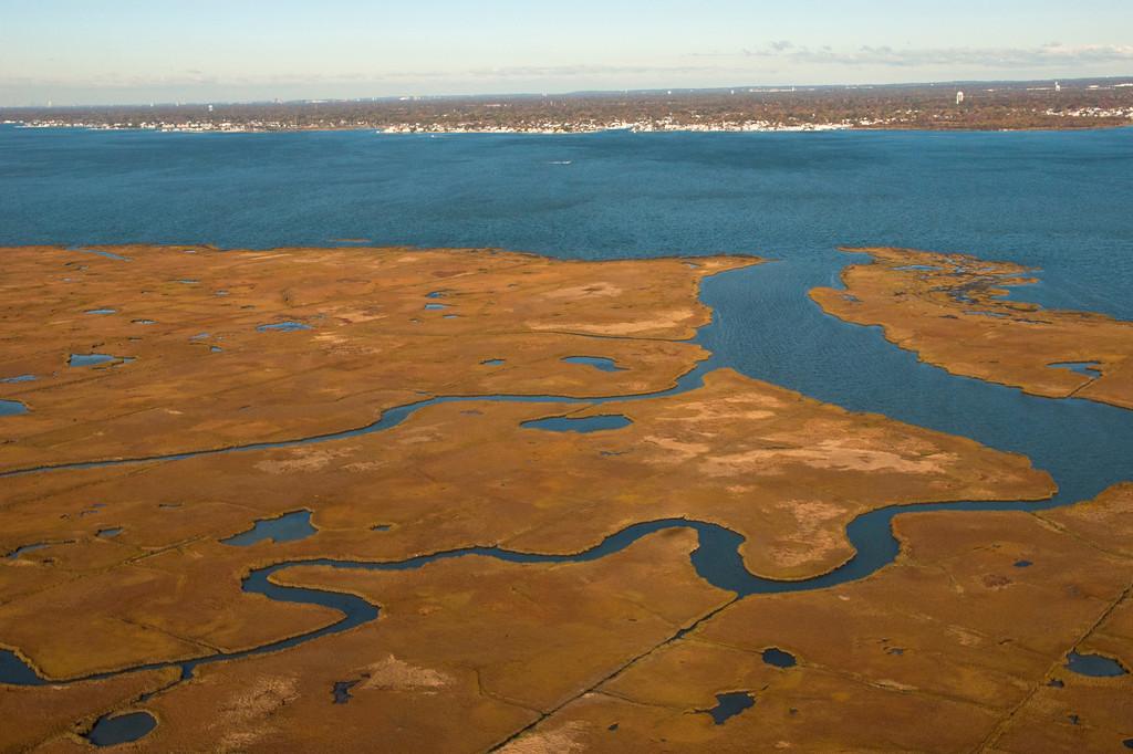 Marsh in the Great South Bay, Long Island, NY