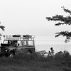 Lindy sitting next to our old Land Rover,  Malawi (1994) Original Fine Art Documentary Photograph by Michel Botman © north49exposure.com
