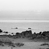 Fisherman's boat in the distance. Lake Malawi near Monkey Bay, Malawi (1994). Original Fine Art Documentary Photograph by Michel Botman © north49exposure.com