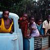 Kids playing on an old broken truck, Nyika Plateau, near Mzuzu, Malawi (1994) © Copyrights Michel Botman Photography