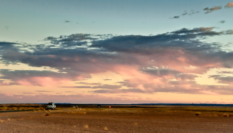 Sunset near Erfoud