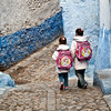 Chefchaouen, kids on way to school