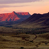 Sunset, table mountain, Damaraland, Namibia